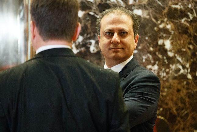 U.S. Attorney Preet Bharara met with the president-elect in Manhattan last fall.