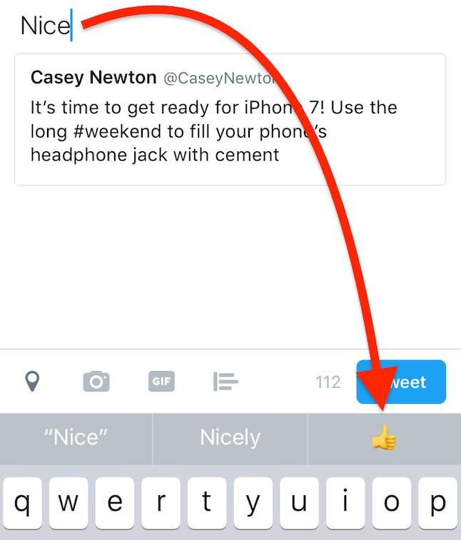 iOS 10's predictive emoji