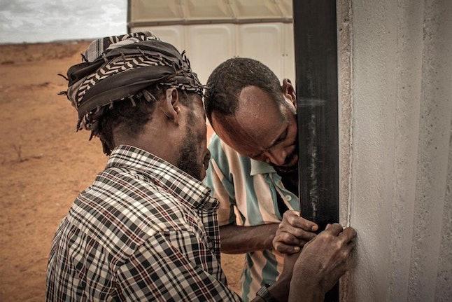 Better Shelter assembly in Hilawyen Refugee camp, Dollo Ado, Ethiopia