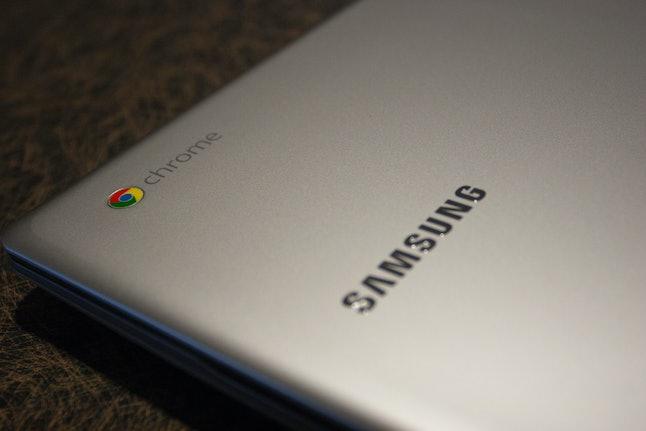 A Samsung brand Chromebook