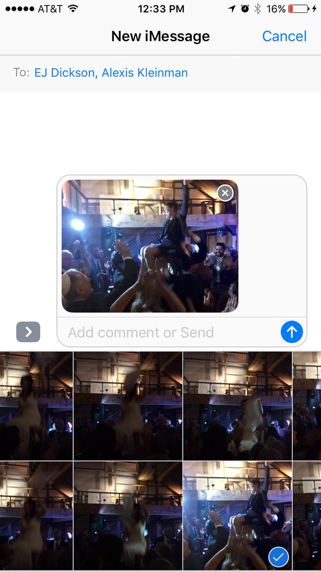 Select an image in the new Messages app