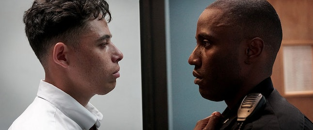 John David Washington, right, opposite Anthony Ramos in 'Monsters and Men'