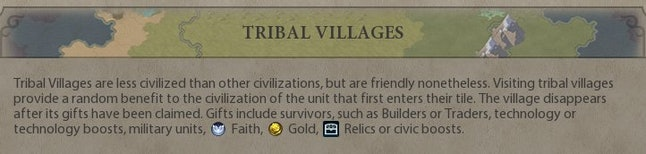"""The tribal village """"disappears"""" after its """"gifts"""" have been taken. Right."""