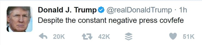 "The now-deleted ""covfefe"" tweet"