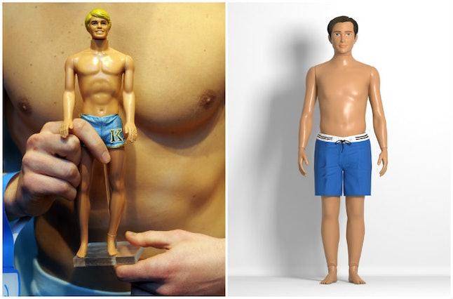 A Ken doll vs. a Lammily doll