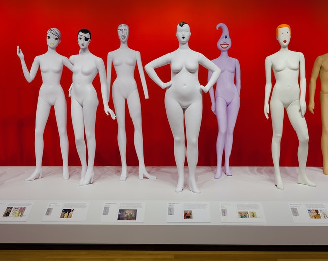 Installation photo of 'Ralph Pucci: The Art of the Mannequin' 2015.