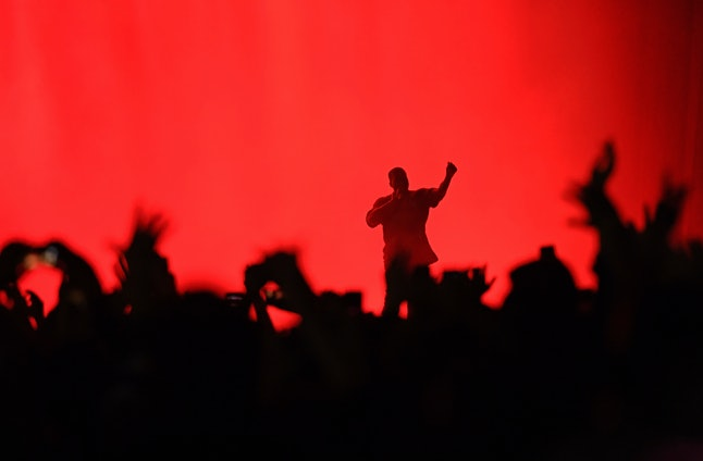 Kanye West performs on stage during The Meadows Music Arts Festival on October 2, 2016, in Queens, New York.