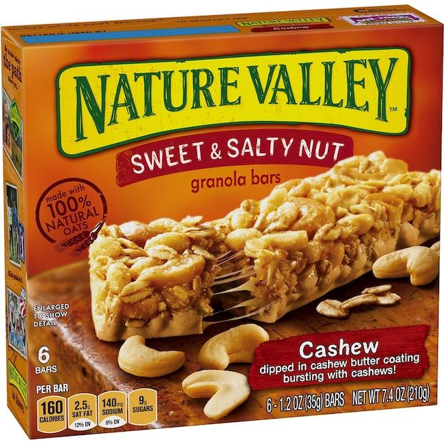 Nature Valley cashew granola bars