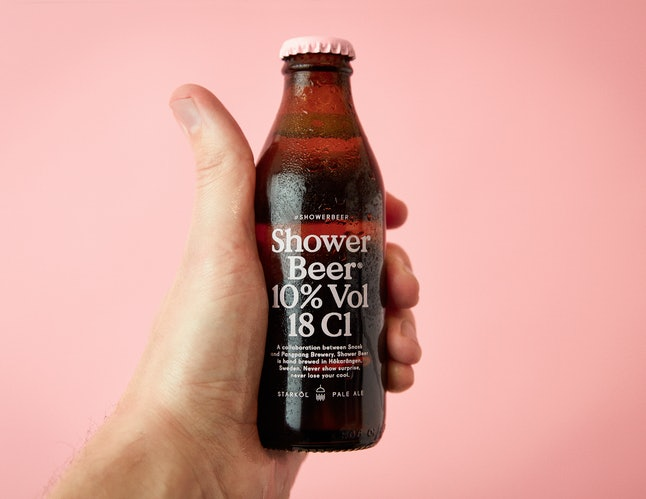 Shower Beer contains 18 centiliters of beer.