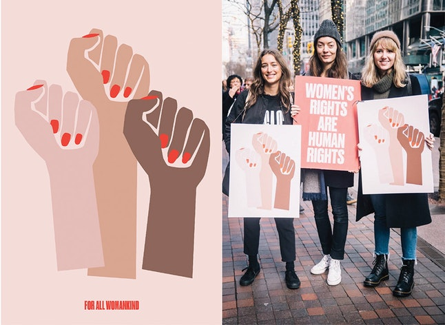 For All Womankind's design at the Women's March