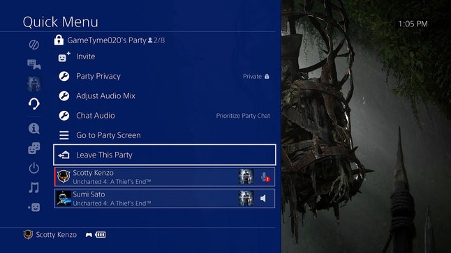 The Quick Menu changes for 5.00