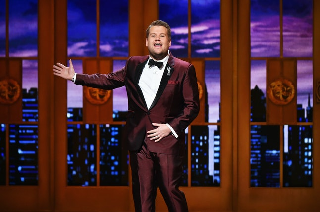 Host James Corden speaks onstage during the 70th Annual Tony Awards at the Beacon Theatre on June 12, 2016 in New York City.