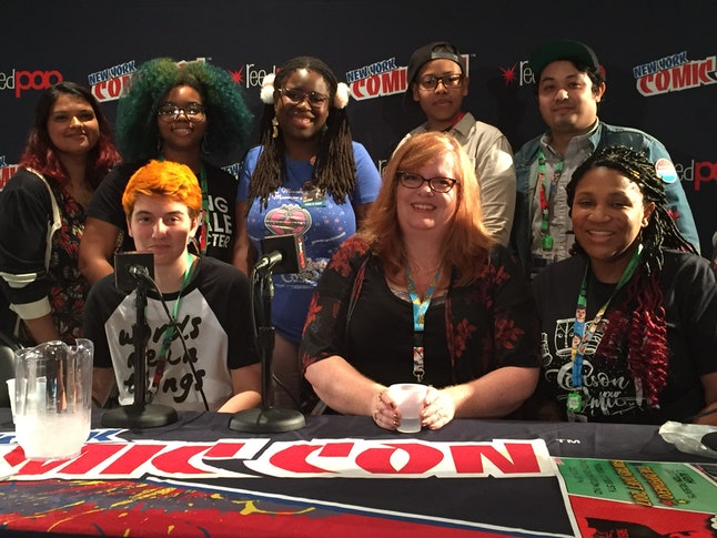 Comic creators talk about diversity during a panel at New York Comic Con 2017