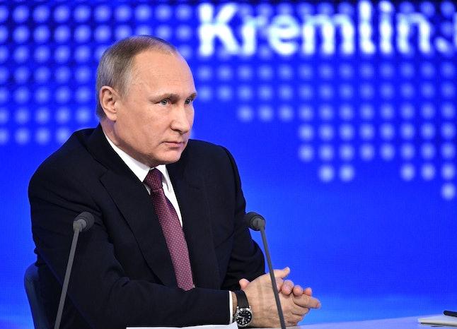 Russian President - and alleged fake news kingpin - Vladimir Putin.
