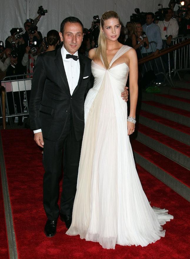 Ivanka Trump and Gilles Mendel at the 2008 Met Gala
