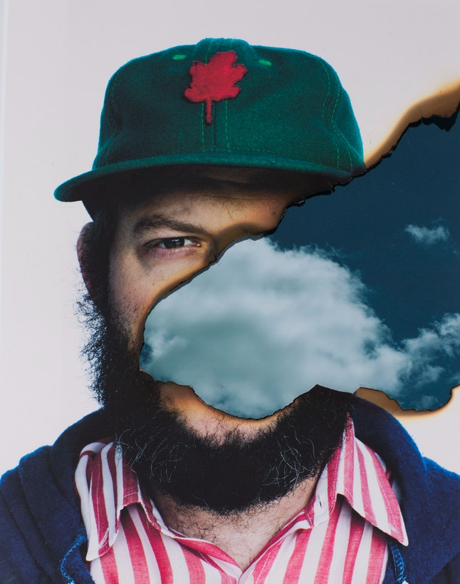 """Bon Iver explained the lack of straightforward profile shots in his press kit at the conference: """"Faces are for friends."""""""