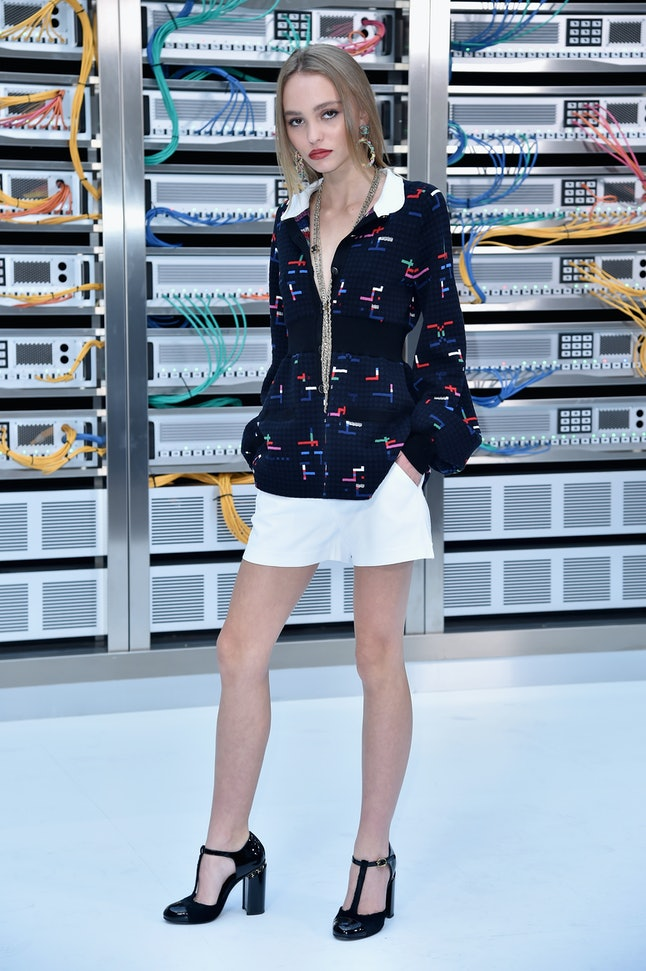 Lily-Rose Depp at the Chanel show in October 2016