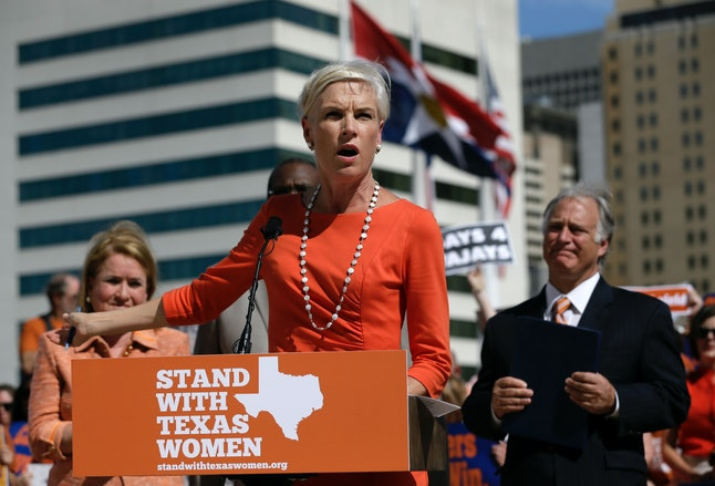 PPFA President Cecile Richards at a 2013 rally in Houston