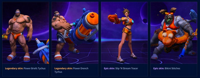 Skins for 'Heroes of the Storm's Summer event