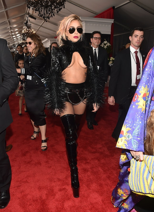 Lady Gaga attends The 59th GRAMMY Awards at STAPLES Center on February 12, 2017