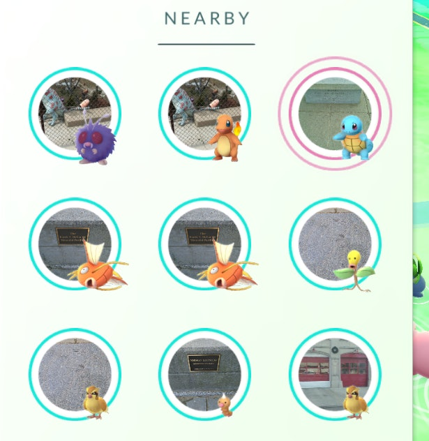 The current Nearby system in Pokémon Go matches Pokemon to PokeStop locations, which is a very specific piece of information.