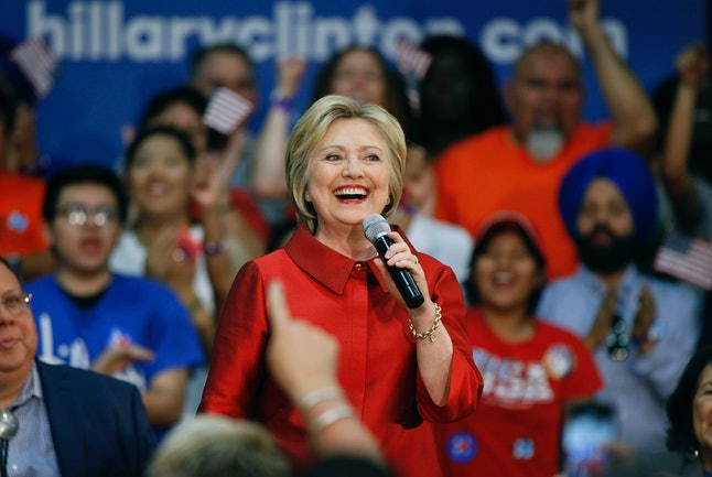 Hillary Clinton campaigns in Phoenix one day before the state's primary.