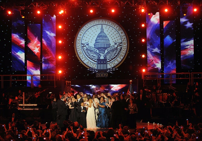 Barack and Michelle Obama at the Neighborhood Ball on Jan. 20, 2009