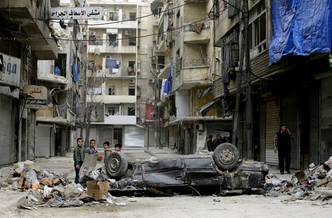 Fighting has laid waste to the Syrian city of Aleppo.