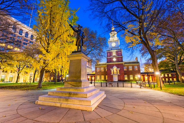 Independence Hall, part of Independence National Historical Park in Philadelphia