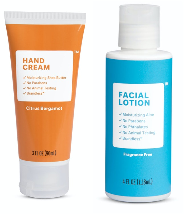Brandless' hand cream and facial lotion