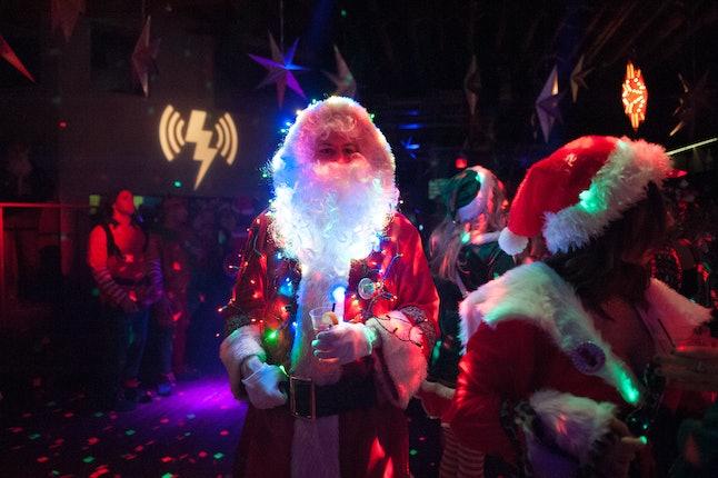 So many Santas...