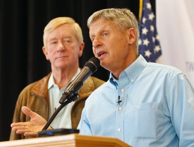 Gary Johnson, right, and Bill Weld, left, are this year's Libertarian nominees for president and vice president.