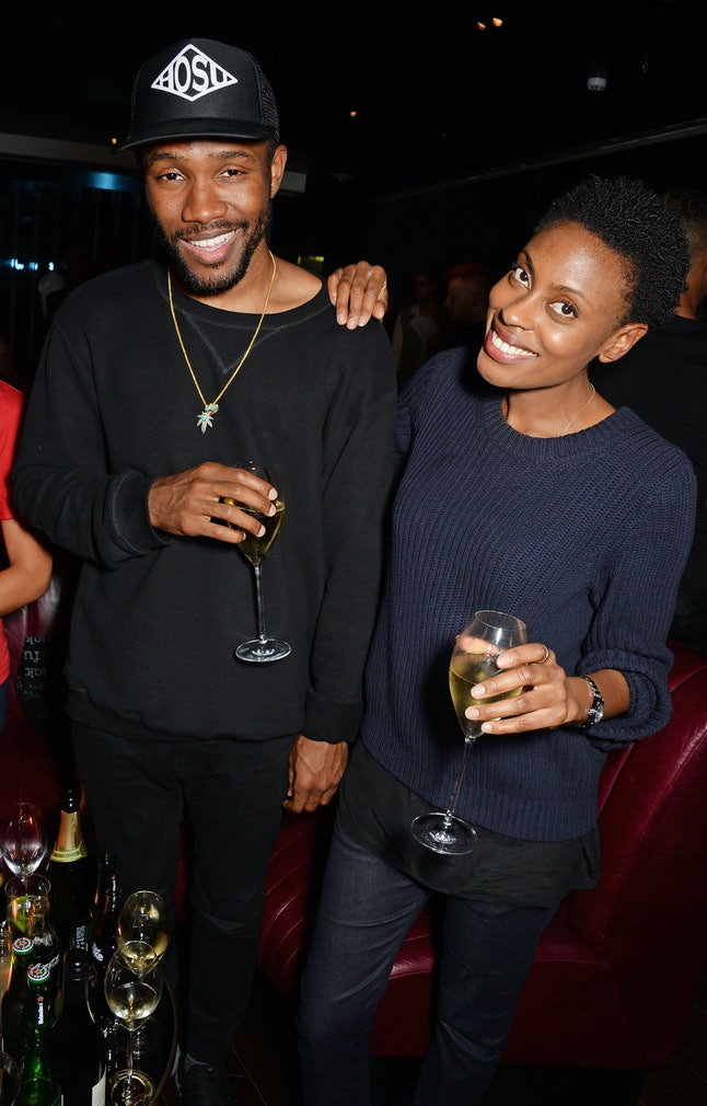 Frank Ocean, left, pictured in in London, England Oct. 9, 2014. Ocean hinted at a new album release in July, but there was no sign of it on Friday.