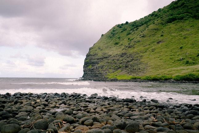 Views along the coast of the island of Molokai.
