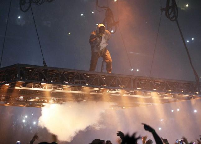 "Kanye West performs on his ""Saint Pablo"" tour."