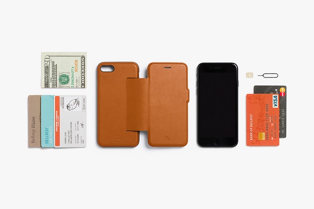 A Bellroy wallet case can fit all of these things.