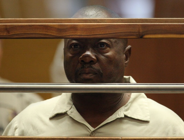 Lonnie David Franklin, Jr. appears in a Los Angeles court in 2010, after his arrest in the alleged murders of nine women and a 15-year-old girl.