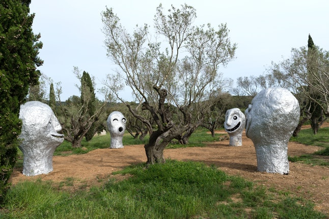 Ugo Rondinone sculptures at the Fondation Carmignac