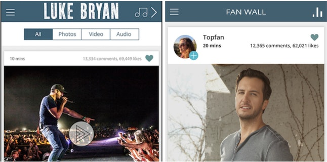 Disciple Media's first musician app, released in July, is for Luke Bryan and his fans.