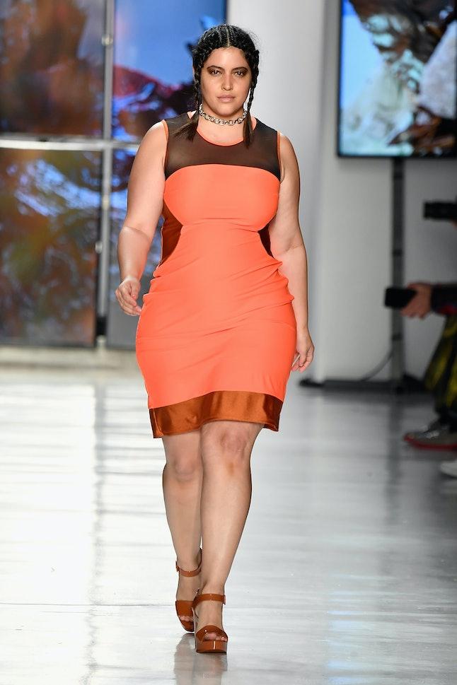 Denise Bidot walking for Chromat