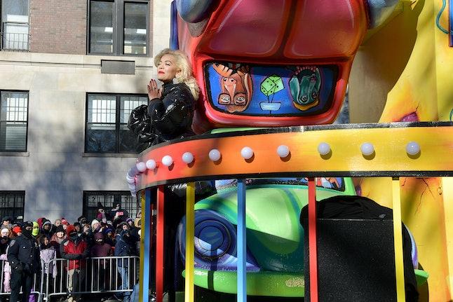 Singer Rita Ora at the 2018 Macy's Thanksgiving Day Parade on Nov. 22 in New York City.