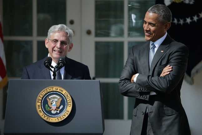 Merrick Garland and President Obama when his nomination was announced in March 2016