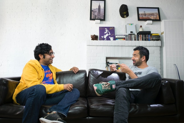 Kondabolu, interviewing actor Kal Penn for 'The Problem With Apu'