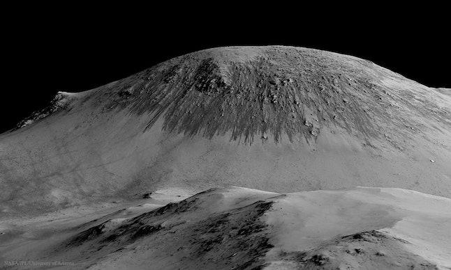 Water streaks on Mars.