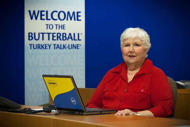 Marge Klindera at the Talk-Line call center