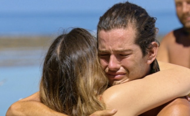 Jay hugs his sister