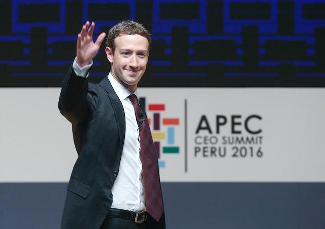 Facebook's Mark Zuckerberg at the 2016 APEC Summit in Lima.