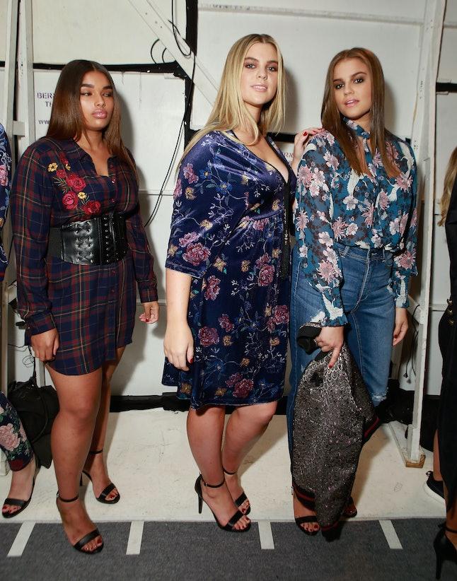 Models wait backstage at the Addition Elle show in September.