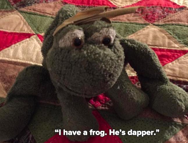 Nicole's stuffed frog
