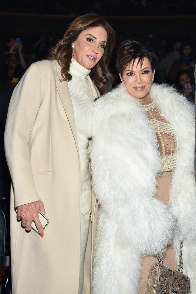 Caitlyn Jenner (left) and Kris Jenner (right) at the Yeezy Season 3 show